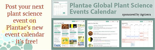 Plantae Plant Science Events Calendar