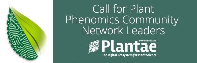 Call for Plant Phenomics Community Network Leaders Plantae