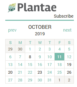 Plantae Global Events Calendar