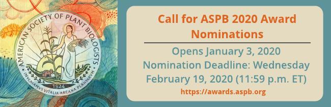 2020 Call for ASPB Award Nominations