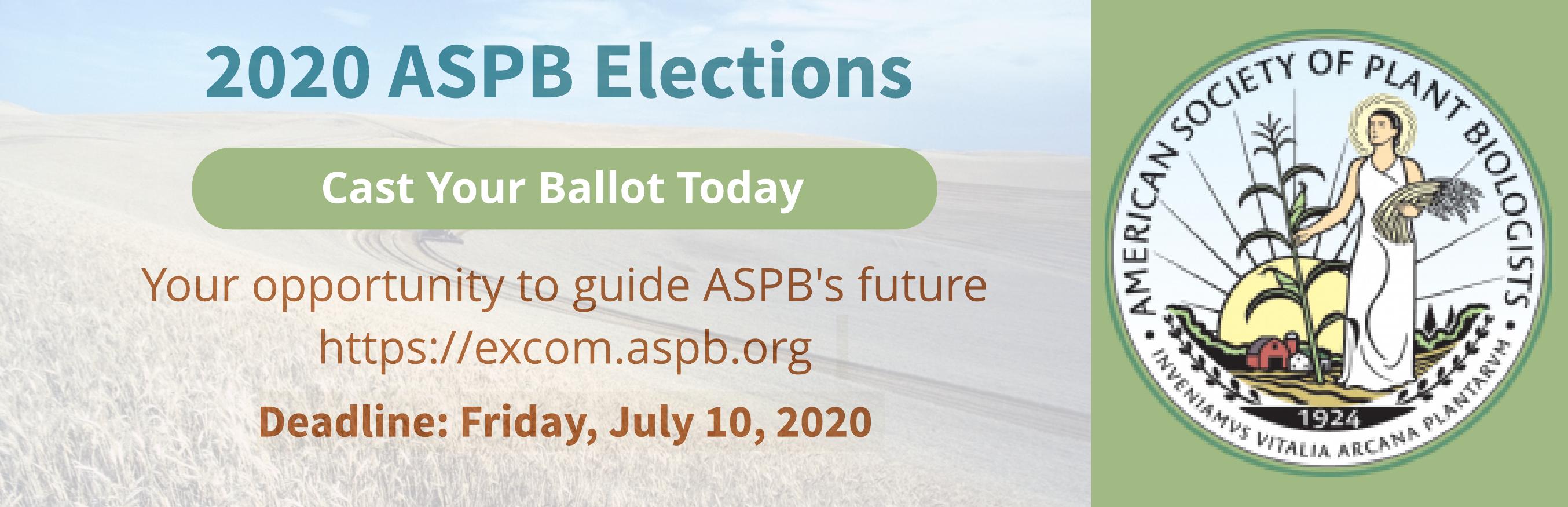ASPB 2020 Council Elections